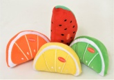 Soft an Squeezy Fruit Dog Toys - Pack of 4